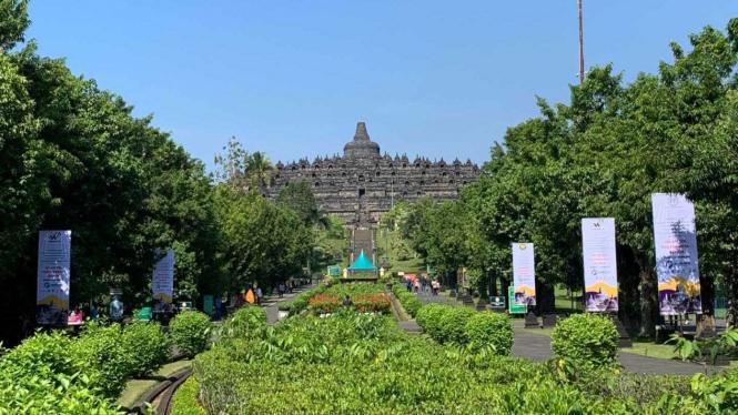 Kawasan Candi Borobudur, di Magelang, Jawa Tengah.