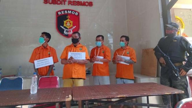 Empat pelaku penusukan timses calon wali kota Makassar