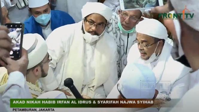 Akad Nikah Habib Irfan dengan putri Habib Rizieq