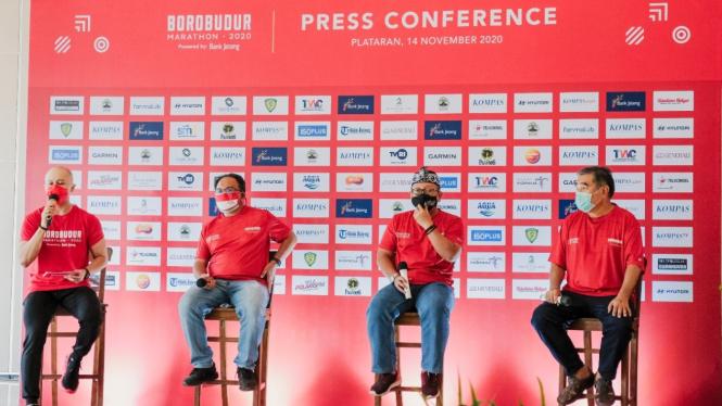 Konferensi pers ajang Borobudur Marathon 2020