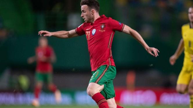 Diogo Jota saat bermain untuk Timnas Portugal