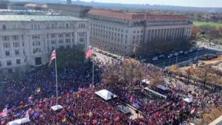 Ribuan Pendukung Donald Trump Demo di Washington DC