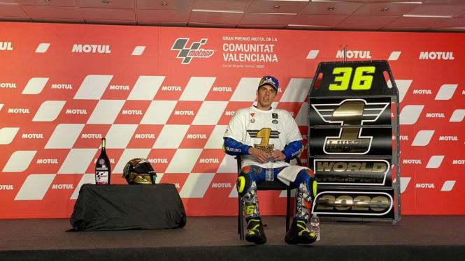 Pembalap Suzuki Ecstar, Joan Mir keluar sebagai juara MotoGP 2020