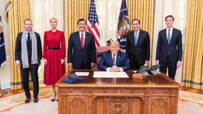 Menko Luhut Bertemu Presiden AS, Donald Trump di Gedung Putih