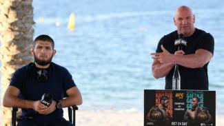 Khabib Nurmagomedov dan Presiden UFC, Dana White