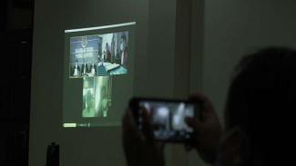 Sidang online penusukan Syekh Ali Jaber di PN Kelas IA Tanjungkarang
