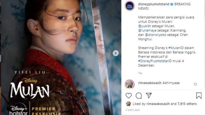 Yuki Kato Dion Wiyoko Luna Maya Jadi Pengisi Suara Film Mulan