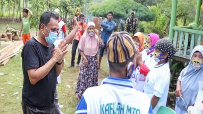 Calon Wakil Gubernur Ma'mun Amir blusukan ke Desa Sampaka, Kecamatan Bualemo
