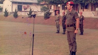 VIVA Militer: Luhut Binsar Panjaitan saat masih aktif berdinas di Kopassus TNI