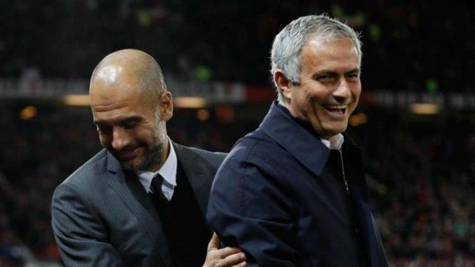 Jose Mourinho dan Pep Guardiola