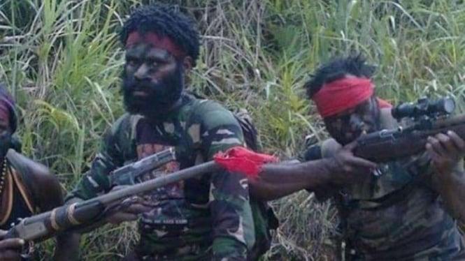 (Ilustrasi) Anggota KKB Papua.