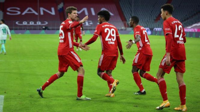 Selebrasi pemain Bayern Munich.