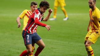 Bomber Atletico Madrid, Joao Felix saat menghadapi Barcelona