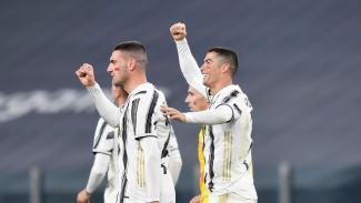 Cristiano Ronaldo dalam laga Juventus vs Cagliari