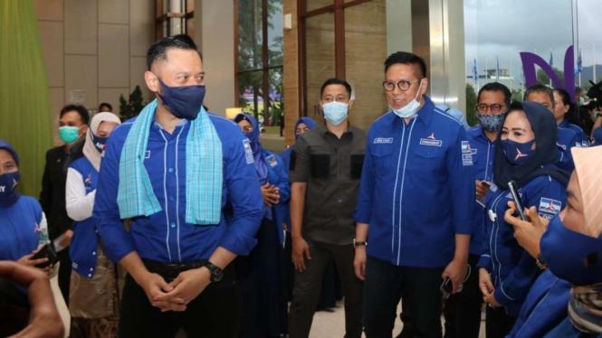 Agus Harimurti Yudhoyono (AHY) saat di Sumatera Barat