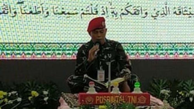 VIVA Militer: Serma TNI Ma'sum, saat melantunakn ayat Suci Alquran di MTQ TNI