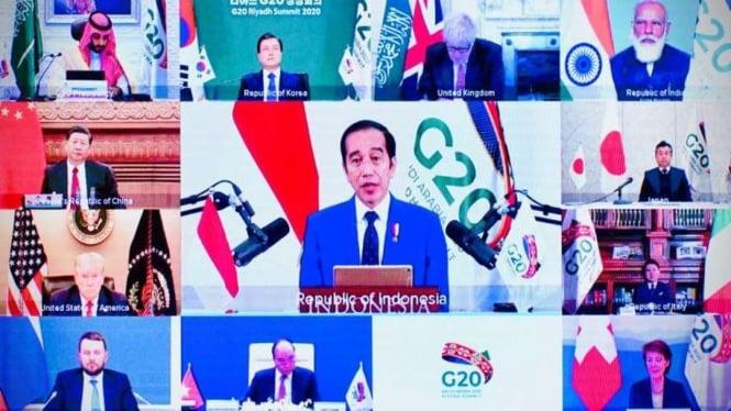 Presiden Joko Widodo di Konferensi Tingkat Tinggi (KTT) G20 Tahun 2020