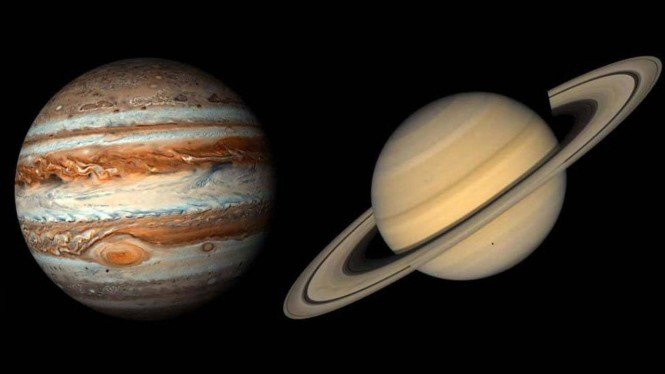 Jupiter dan Saturnus.