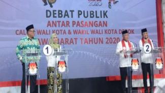 Debat perdana calon wali kota dan wakil wali kota Depok 2020. (Foto ilustrasi)