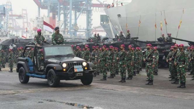 VIVA Militer: Apel Pasukan TNI Angkatan Laut.