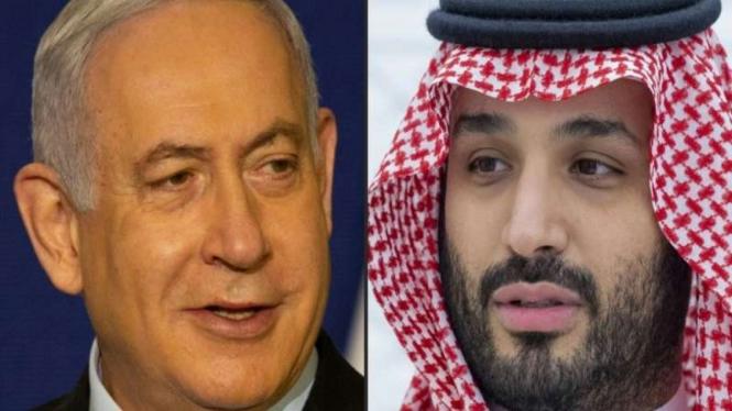 Perdana Menteri Israel Benjamin Netanyahu dan Putra Mahkota Arab Saudi Mohammed bin Salman