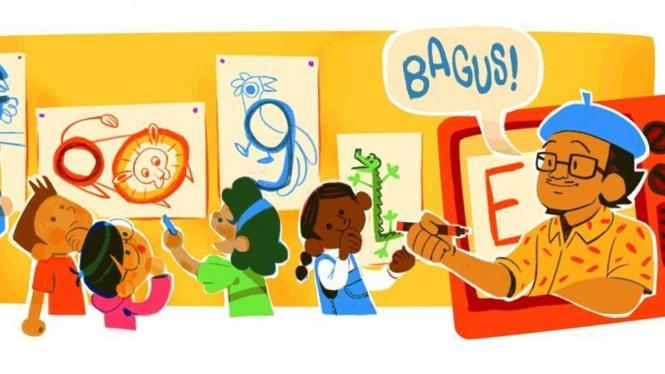 Google Doodle Tino Sidin.