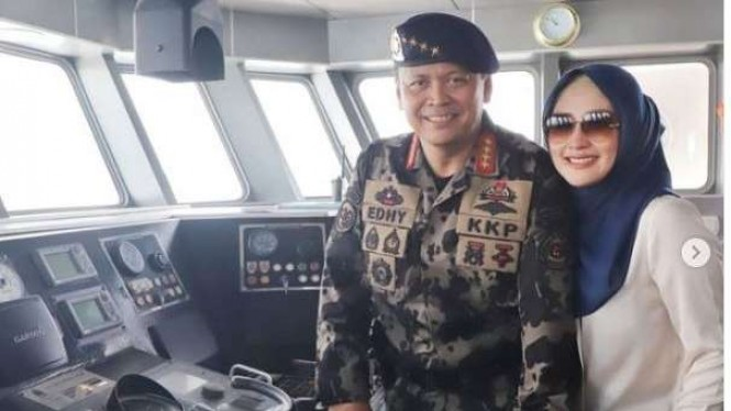Menteri Edhy Prabowo dan istrinya Iis Rosita Dewi