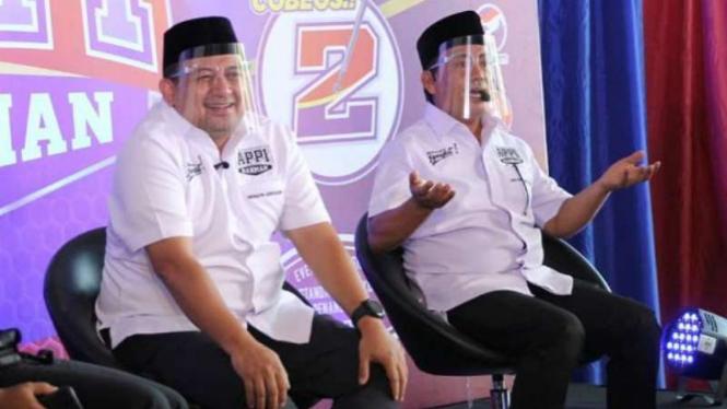 Pasangan calon Appi-Rahman yang bersaing dI Pilkada Kota Makassar