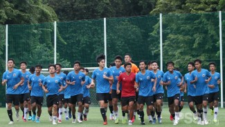 Suasana latihan Timnas Indonesia U-19 di Stadion Madya GBK.