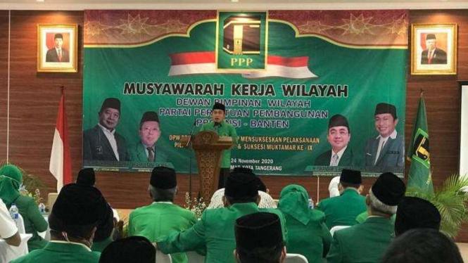 DPW PPP Banten saat menggelar Musyawarah Kerja Wilayah.