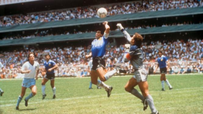 Gol Tangan Tuhan legenda Argentina, Diego Maradona