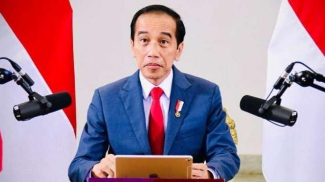 Presiden joko Widodo di pertemuan WEF.