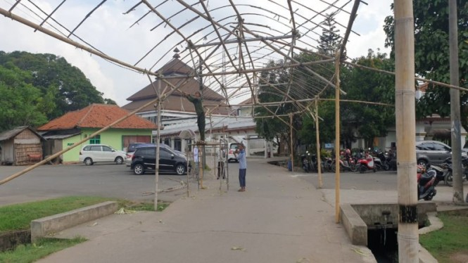 Persiapan Haul Syekh Abdul Qodir Jaelani di Pesantren Al-Istiqlaliyyah Tangerang