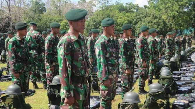 VIVA Militer: (ilustrasi) Prajurit TNI Yonif Raider 700/WYC