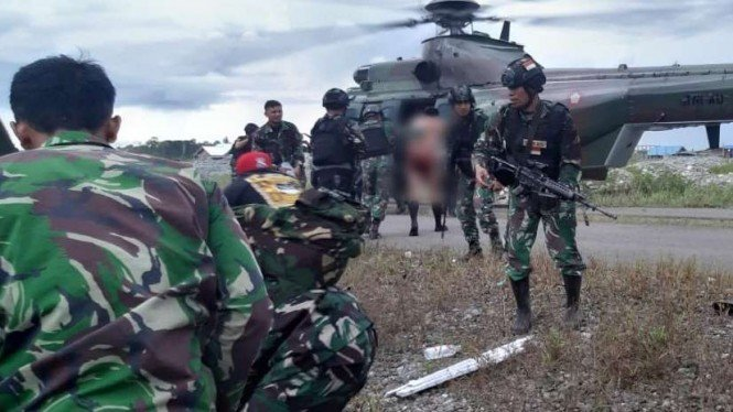 KKB Serang Anggota TNI di Kabupaten Nduga Papua