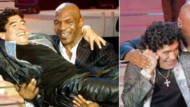 Keabraban Mike Tyson dan Diego Maradona