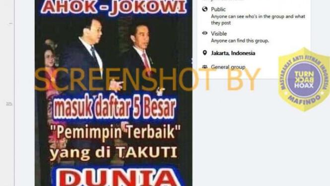 Hoax Jokowi-Ahok masuk 5 besar pemimpin dunia yang ditakuti
