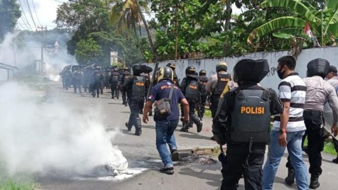 Situasi di Sorong saat bentrokan