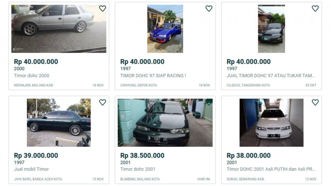 Harga mobil bekas Timor S515