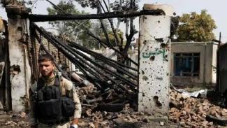 VIVA Militer: Tentara Afghanistan berjaga pasca serangan bom bunuh diri