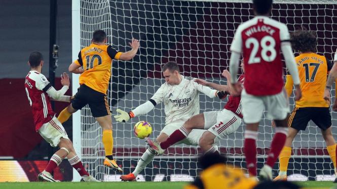 Arsenal ditumbangkan Wolverhampton Wanderers