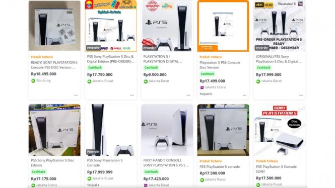 Toko online di Indonesia jual PS5