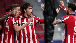 Selebrasi pemain Atletico Madrid rayakan gol Joao Felix