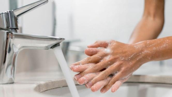 Ilustrasi cuci tangan.