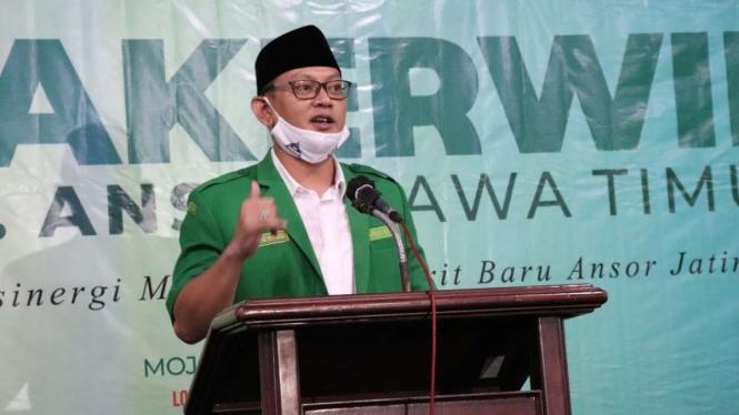 Ketua Gerakan Pemuda Ansor Jawa Timur Syafiq Syauqi