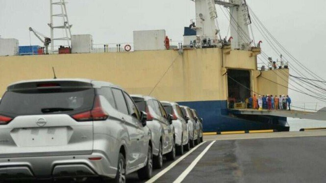 Uji coba Pelabuhan Patimban.