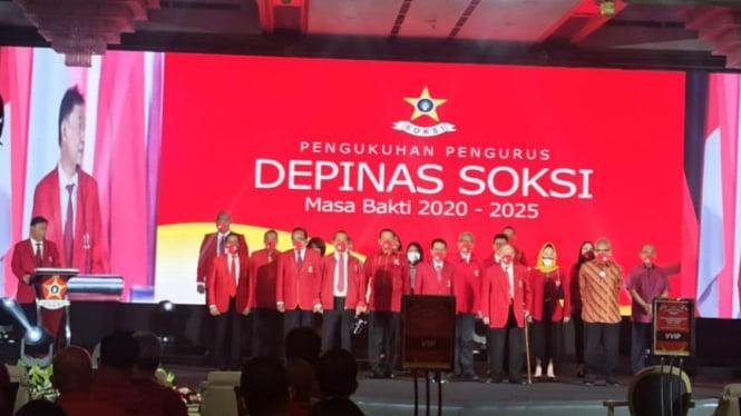 Pelantikan pengurus Depinas SOKSI 2020-2025