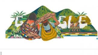 Noken Papua tampil di Google Doodle.