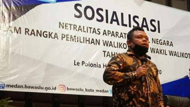 Komisioner Bawaslu Kota Medan, M.Taufiqurrohman Munthe