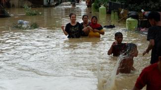 4.099 Kepala Keluarga Terkena Dampak Banjir di Kota Medan 4 Desember 2020.